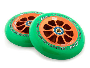 River Rapids Wheels - PAIR, 110mm,   (Green On Copper)