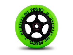 Proto Gripper Wheels - PAIR (Neon-Green On Black)