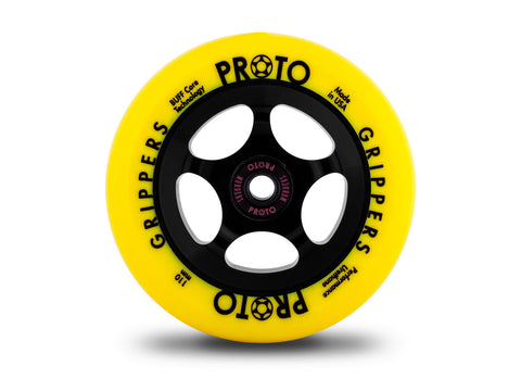 Proto Gripper Wheels - PAIR (Neon-Yellow On Black)