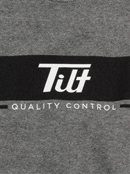 Tilt Quality Control Crew Neck (White/Black on Gray)