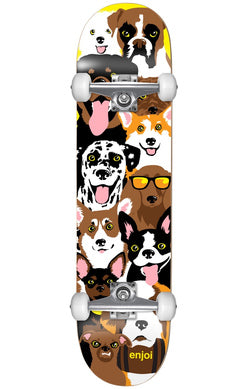 Enjoi Dog Collage Youth - Skateboard Complete