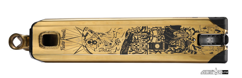 Envy AOS V4 Limited Edition Flavio Pesenti 2018, Scooter Deck, Gold, Bottom View