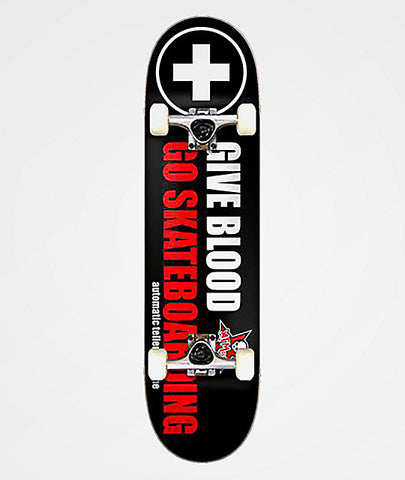 ATM Give Blood 8.0 - Skateboard Complete