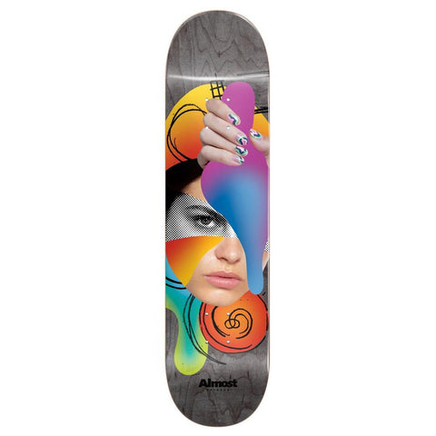 Almost Gray Face Collage R7 8.5 - Skateboard Deck