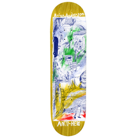Antihero Brian Anderson SF Then And Now 8.5 - Skateboard Deck