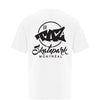 TAZ X-Logo T-Shirt White Back