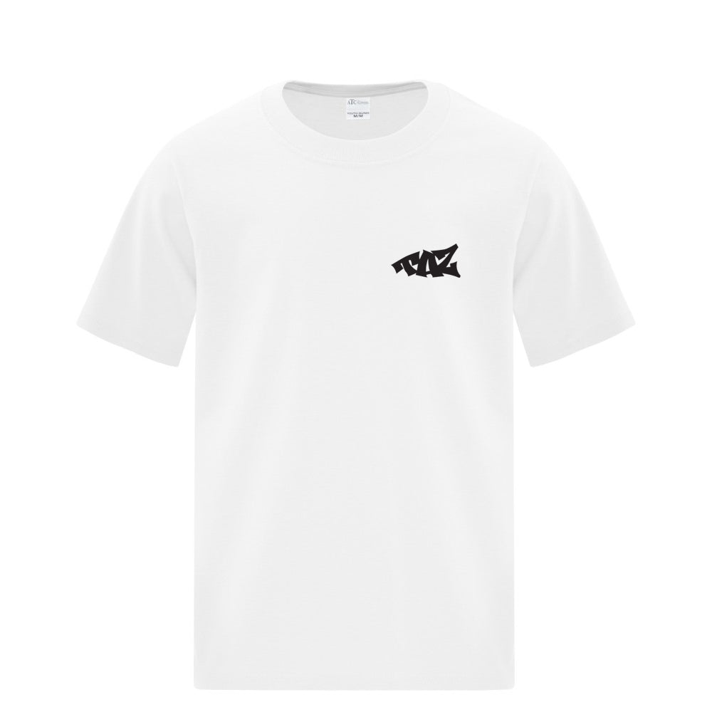 TAZ Youth T-Shirt White Front