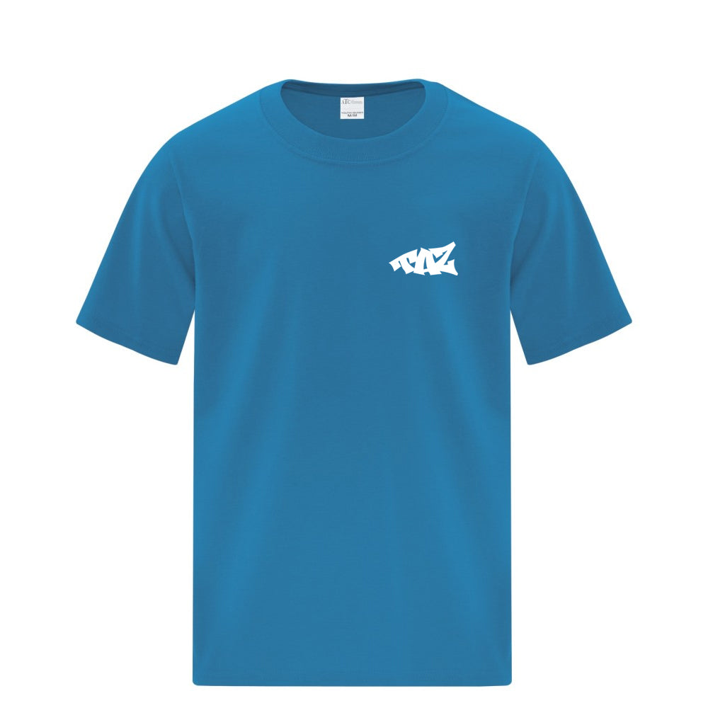 TAZ Youth T-Shirt Caribbean Blue Front