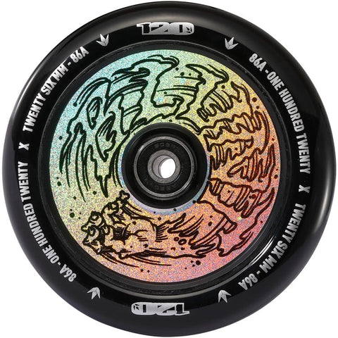 Envy 120mm Hollow Core Hand Hologram (PAIR) - Scooter Wheels