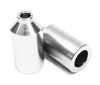 envy aluminium pegs, silver, front and back