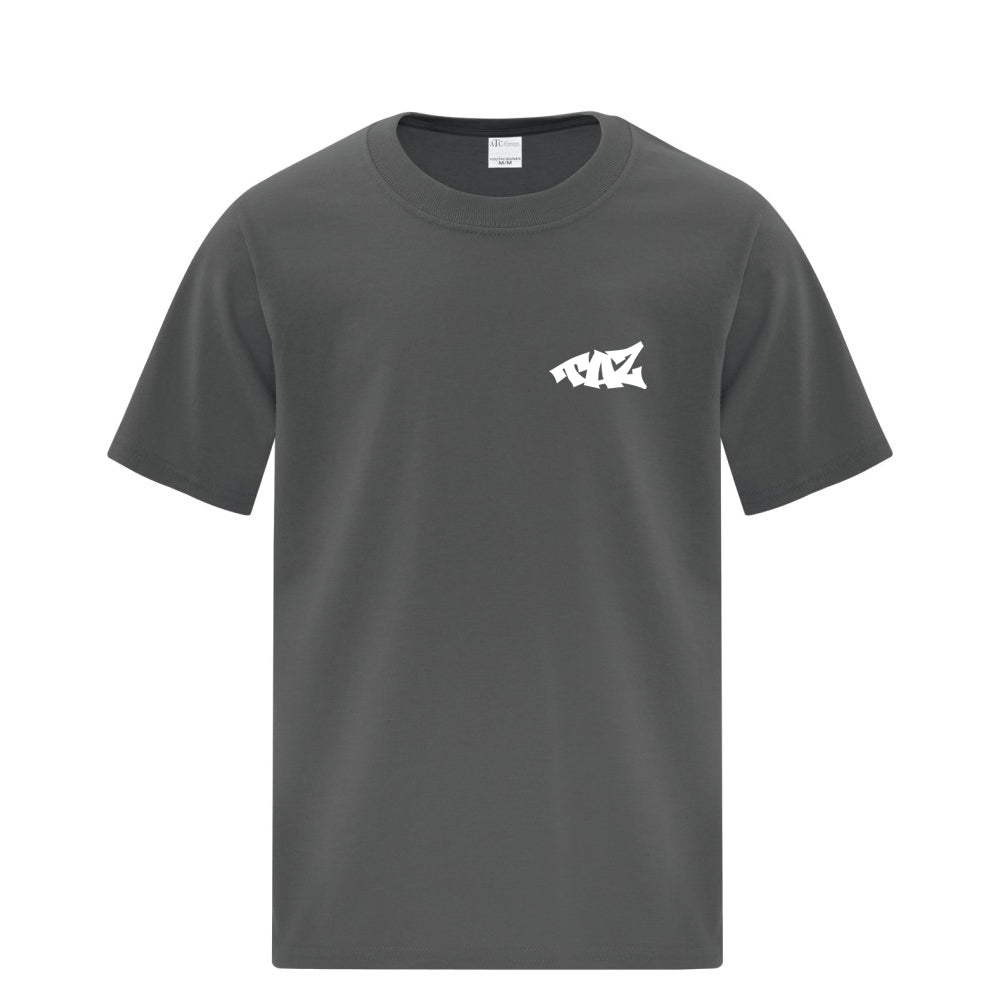 TAZ Youth T-Shirt Charbon Front