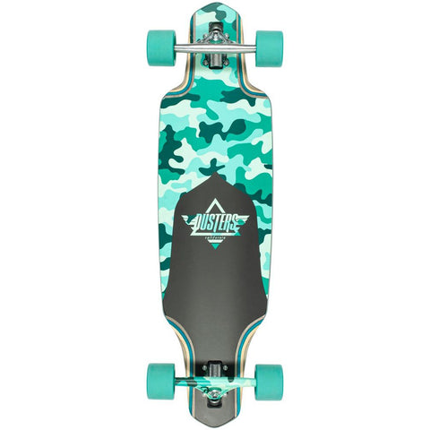 "Dusters Channel Dragonfly Camo / Teal 34"" - Longboard Complete"
