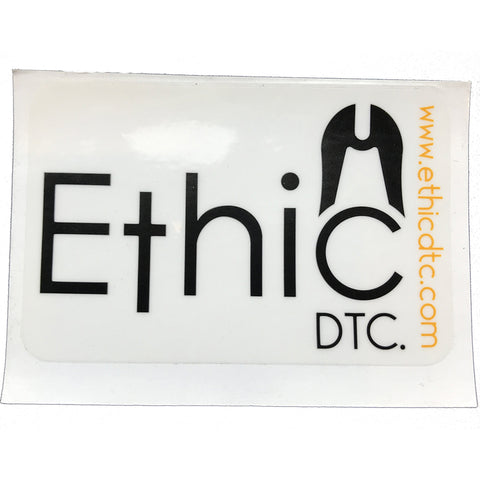 Ethic DTC. Transparent Back - Sticker