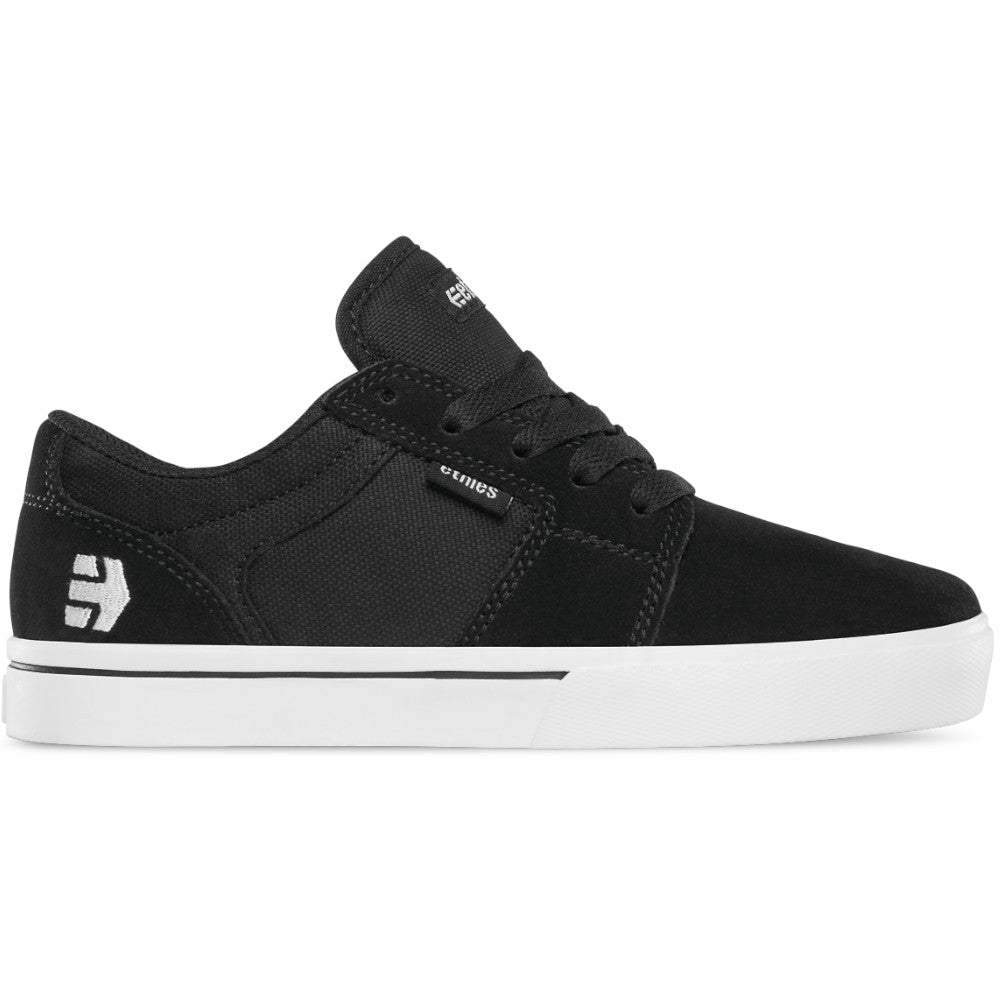 Etnies Kids Barge LS Black/White - Shoes Right Side