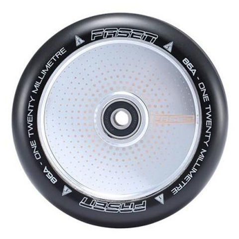 Fasen 120mm Hollow Core Hypno Dot (PAIR) - Scooter Wheels Chrome
