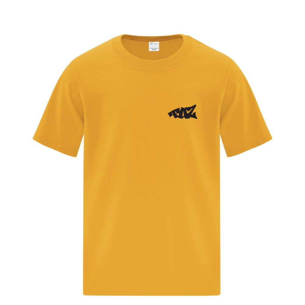 TAZ Youth T-Shirt Gold Front