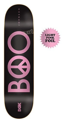 DGK Peace Boo Black 8.25 - Skateboard Deck
