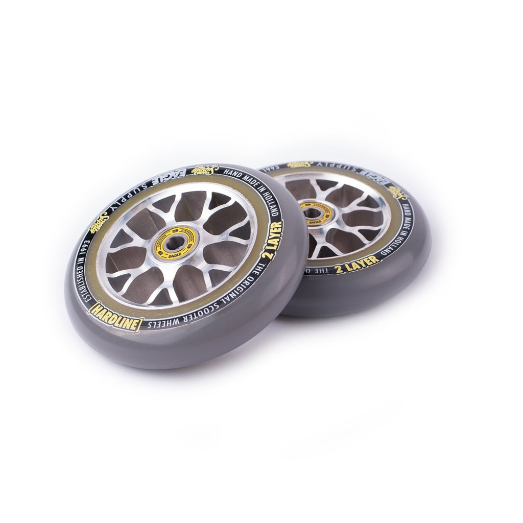 Eagle X6 Silver Core 2 Layers Hardline Sewercaps (SINGLE) - Scooter Wheel