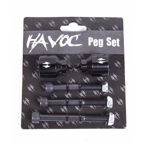 Havoc Black  - Scooter Pegs