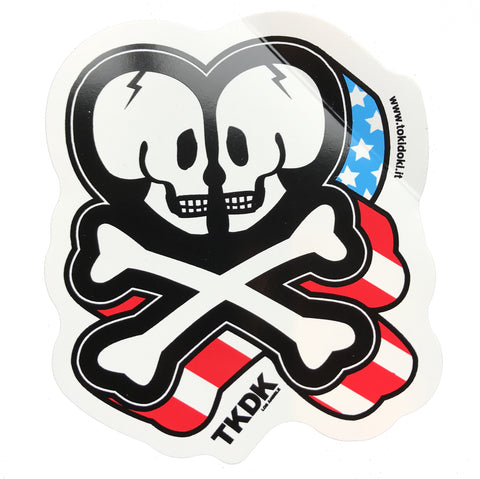 Tokidoki Logo Stars And Stripes - Sticker