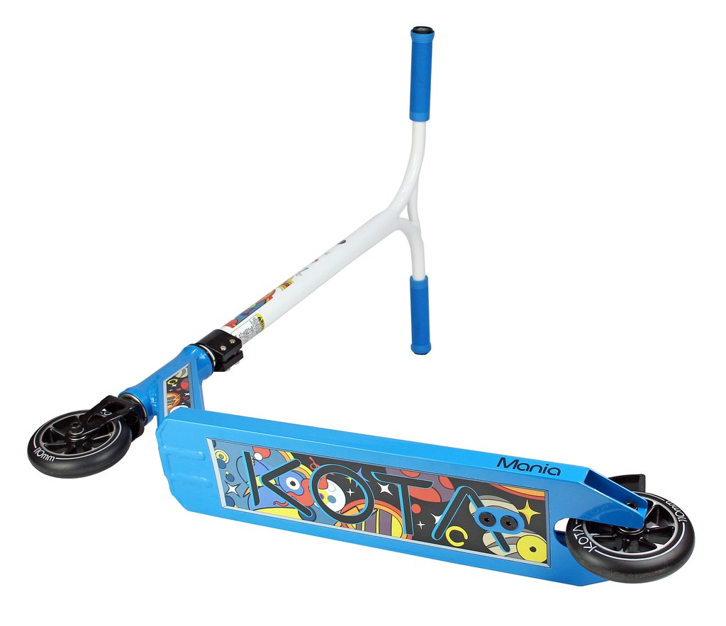 Kota Mania - Complete Scooter, Blue White Under Side View
