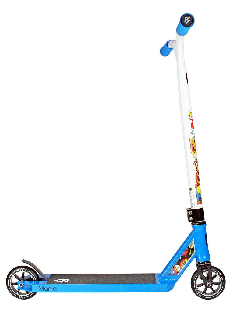 Kota Mania - Complete Scooter, Blue White Side View