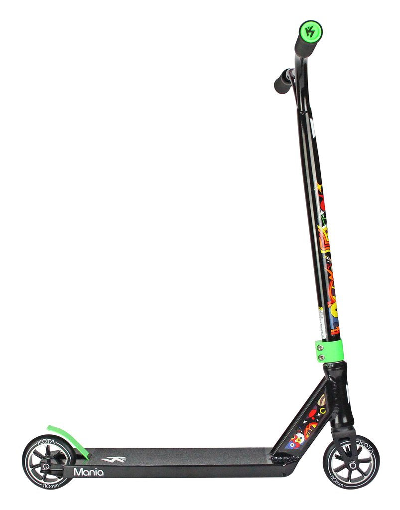 Kota Mania - Complete Scooter, Black Black Side View