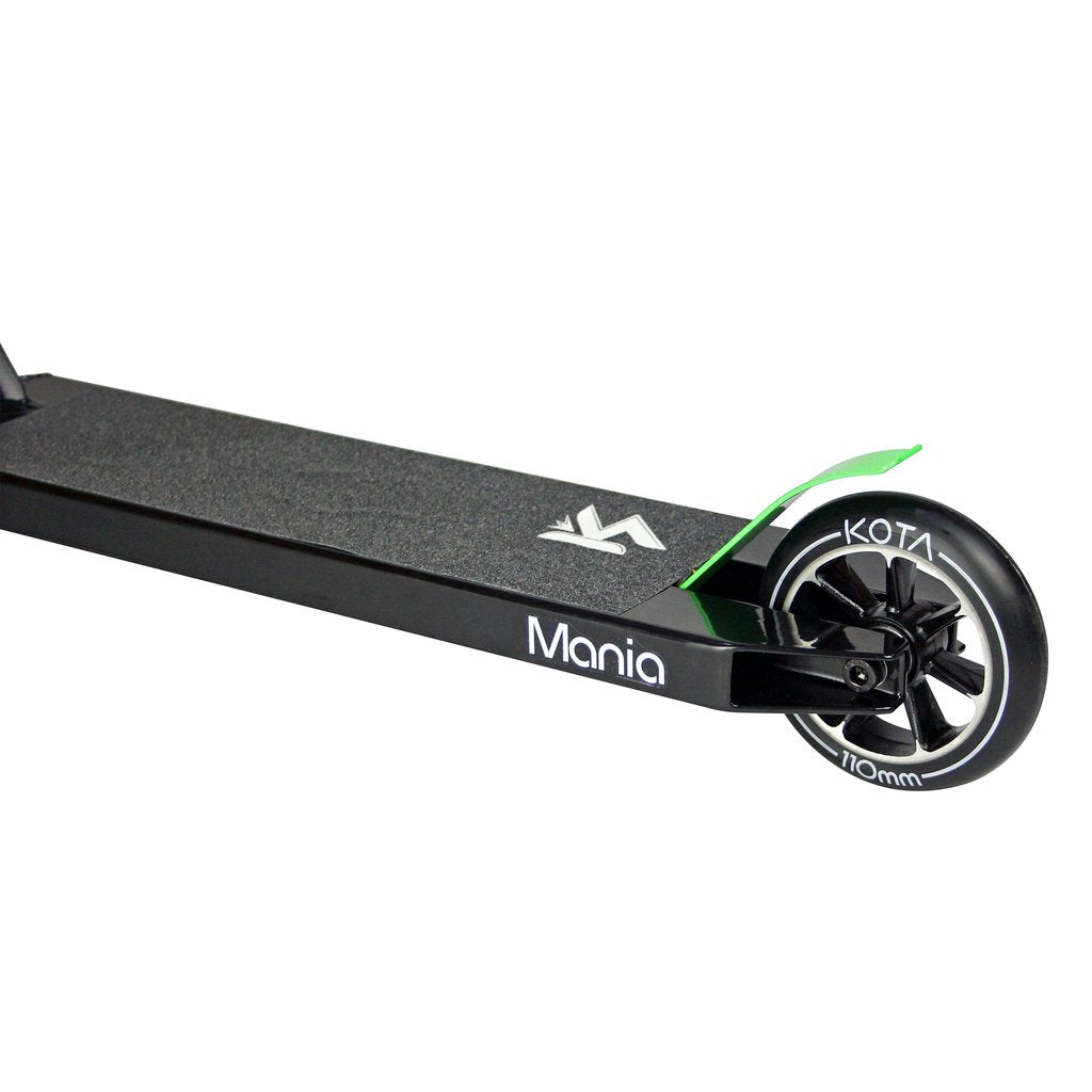 Kota Mania - Complete Scooter, Black Black Side Deck View
