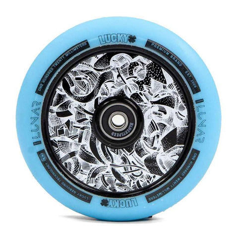 Lucky Lunar Axis Teal 120mm (PAIR) - Scooter Wheels