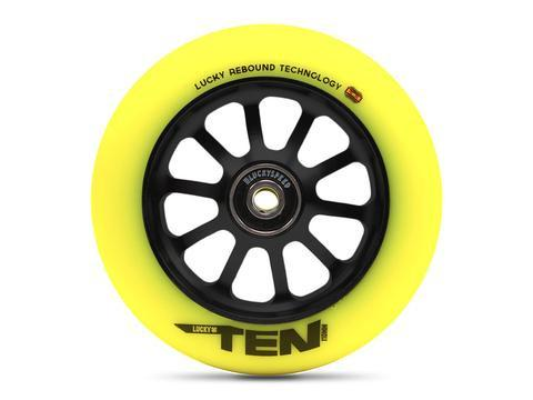 Lucky Ten Black Hi-Liter 120mm (PAIR) - Scooter Wheels
