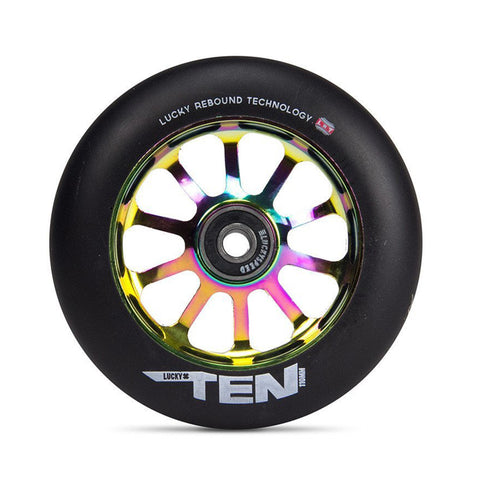 Lucky Ten 110mm Black Urethane (PAIR) - Scooter Wheels