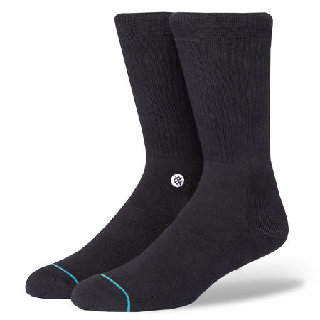 Stance Icon, Socks, Black White