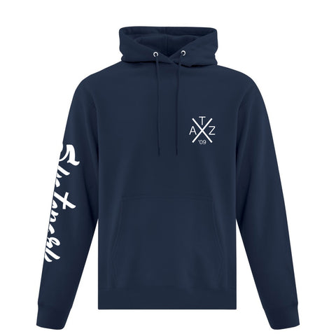 TAZ Youth X-Logo Hoodie Marine Front
