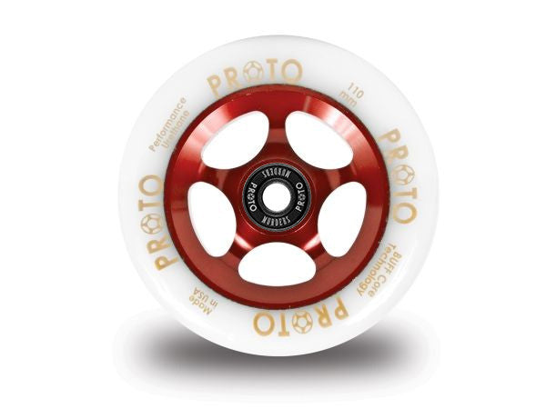 Proto Gripper White on Red