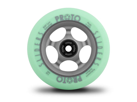 Proto Faded Sliders Pastel Green / Ghost Grey, Scooter Wheels