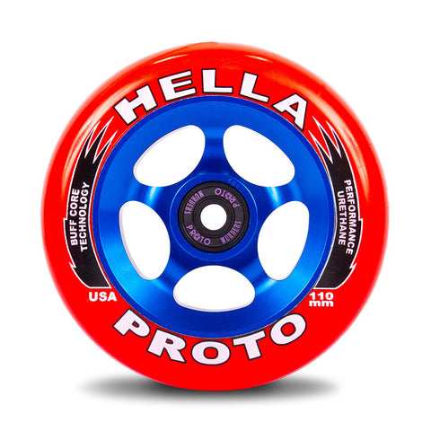 Proto X Hella Collab Grippers Tribute 110mm (PAIR) - Scooter Wheels