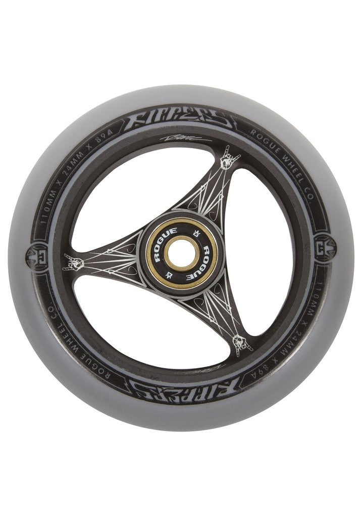 Rogue Ripper Wheels (PAIR), Scooter Wheels, Grey Black