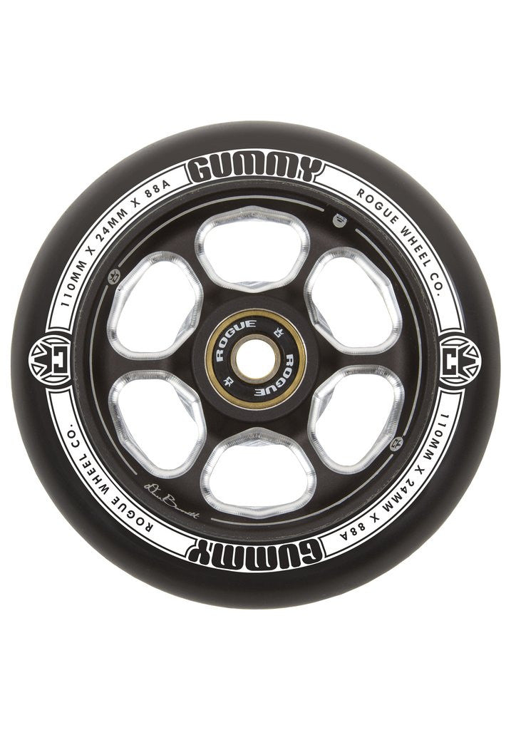 Rogue Dan Barret Signature Gummy (Pair), Scooter Wheels, Black Black