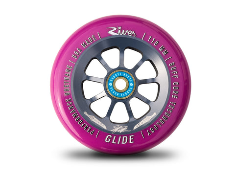 River Glide Wheels - PAIR, 110mm, Stefan Hefner- Pearl Dagger