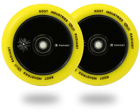 Root Industries 110mm Radiant Air Wheels (PAIR) - Scooter Wheels Yellow