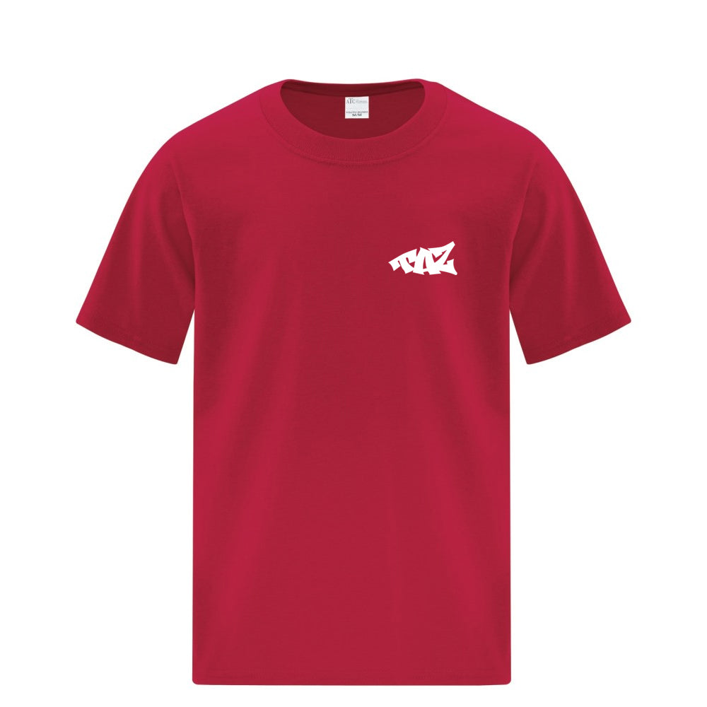 TAZ Youth T-Shirt Red Front