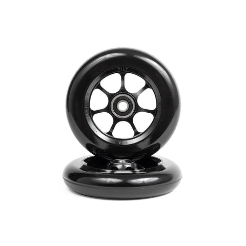 Tilt Durare Spoked Wheels Black 120X30mm (PAIR) - Scooter Wheels