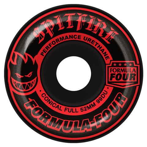 Spitfire F4 Conical Full Black Out - Skateboard Wheels 52mm