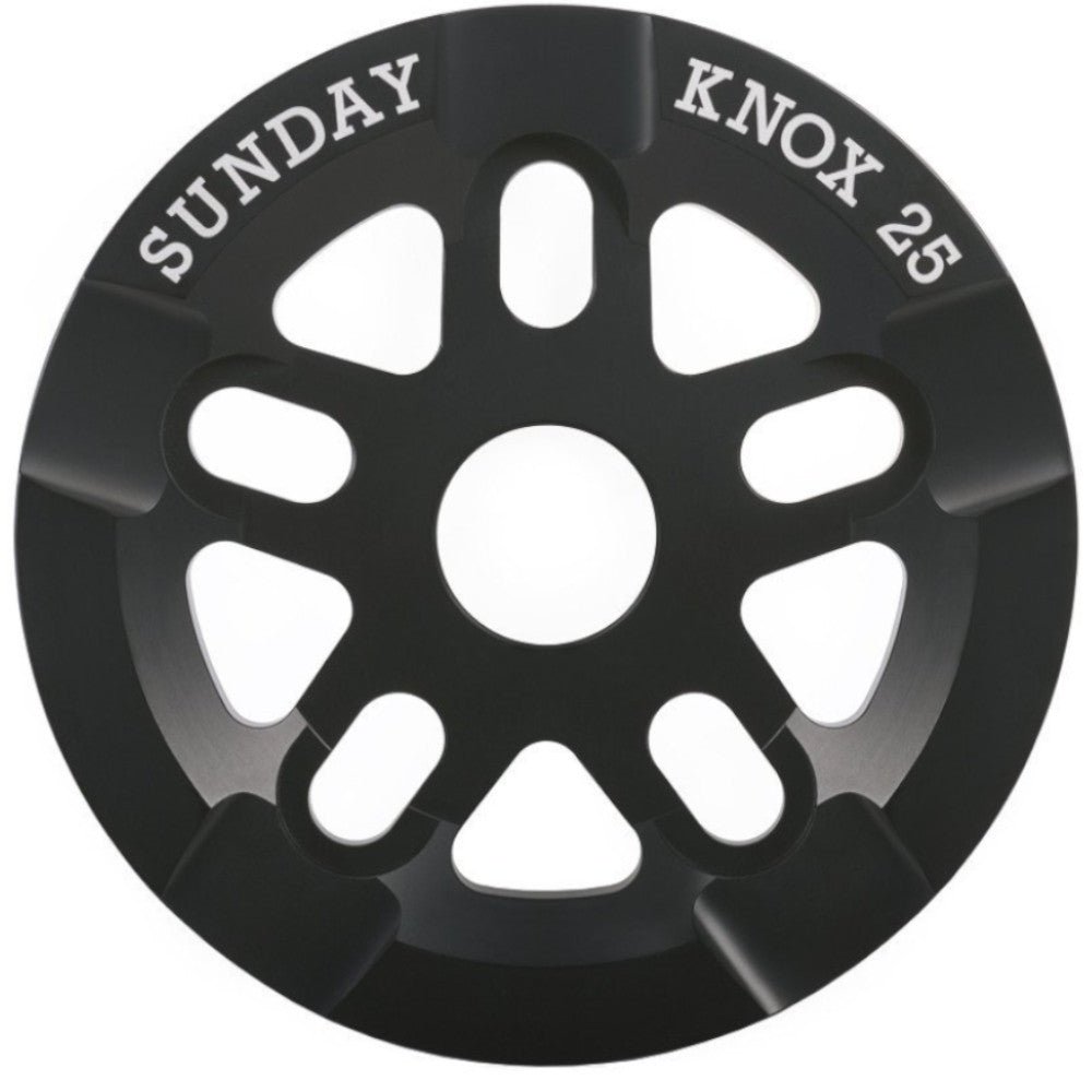 Sunday Knox Black 25T - BMX Sprocket Close Up