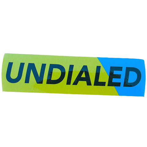 Undialed Yellow And Blue - Sticker