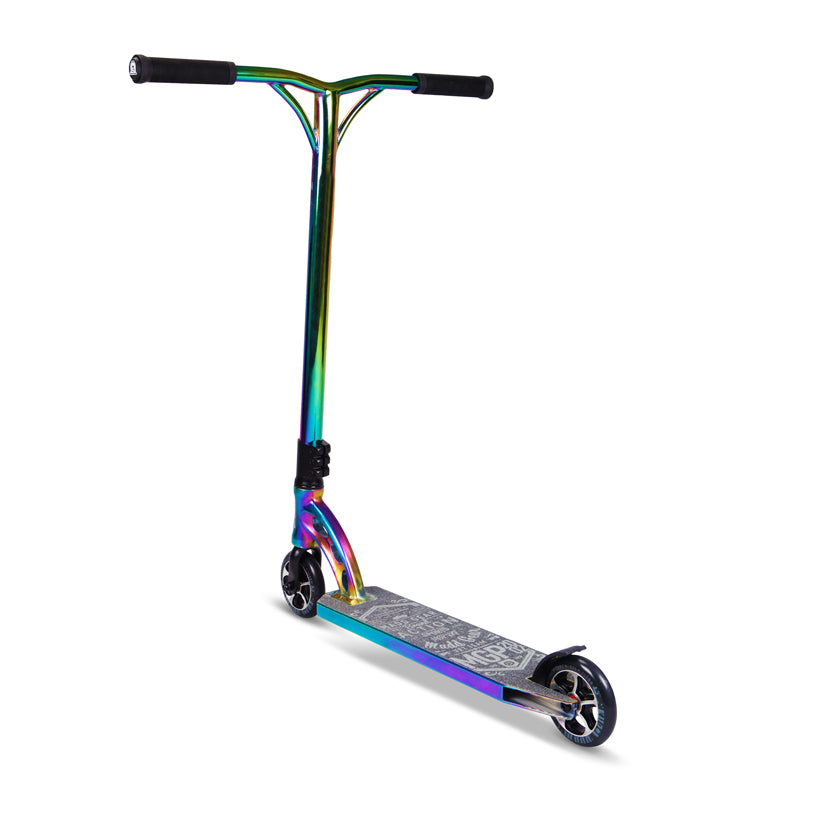 MGP VX7 Team Limited NeoChrome Black, Complete Scooter, Neo Chrome, Back View
