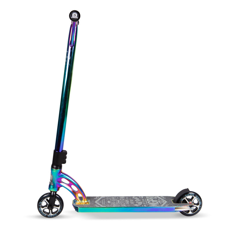MGP VX7 Team Limited NeoChrome Black, Complete Scooter, Neo Chrome, Side View