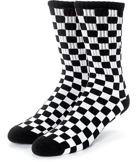 Vans Checkerboard Crew 2 - Socks - Versus Pro Shop - QC Scooters