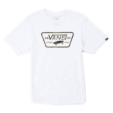 Vans Boys Full Patch Fill White Camo - Shirt