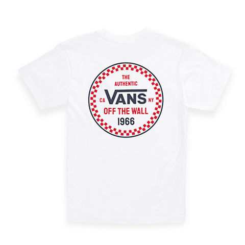 Vans Boys Checker 66 White - Shirt